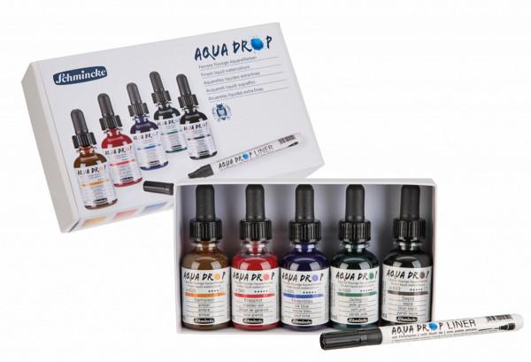 Schmincke Aqua Drop Aquarellfarben-Set inkl. Liner