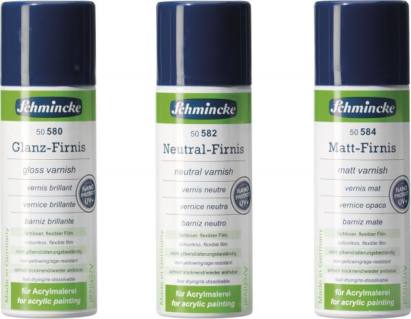 Schmincke Glanz- und Neutralfirnis mit UV-Schutz