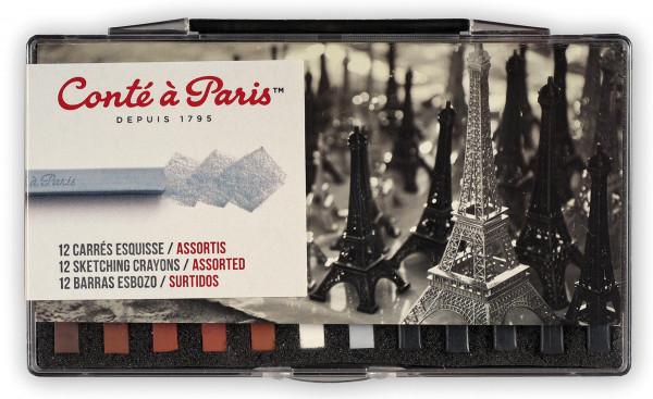 Assortis | Conté à Paris Esquisse Carrés