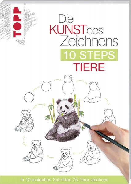 Die Kunst des Zeichnens: 10 Steps Tiere   frechverlag