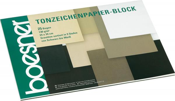 boesner Tonzeichenpapier-Block, Grautöne