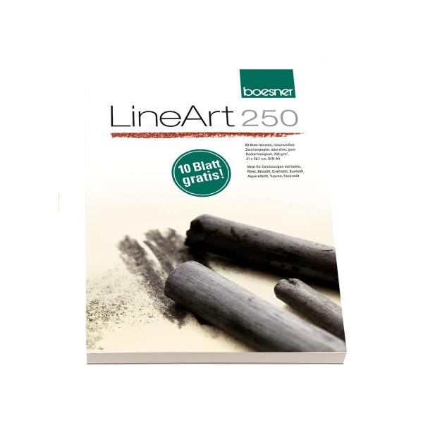 boesner LineArt 250 Zeichenpapier-Block