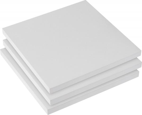 MONAT_2021-01_Jan: boesner Gesso-Malplatte | 3x 20 x 20 cm