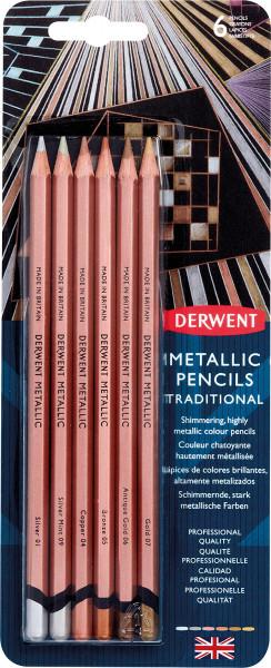 Derwent Metallic Pencils-Set