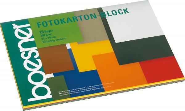 boesner Fotokarton-Block, 10-farbig sortiert
