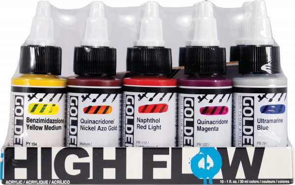 Golden High Flow Acrylfarben-Set, Assorted Colors