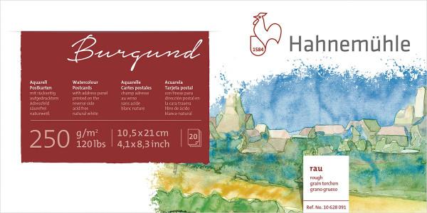 Hahnemühle Burgund Akademie- Aquarellpostkarten-Block