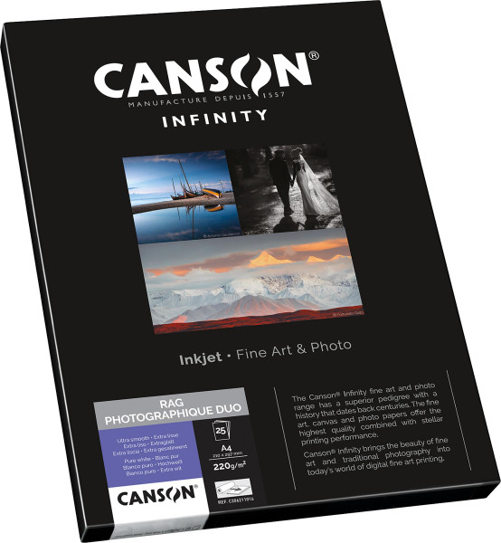 Rag Photographique Duo, 220 g/m²   Canson Infinity