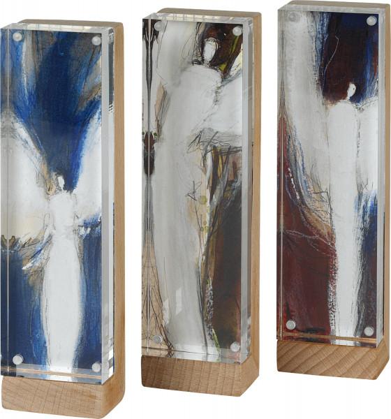 Boesnertest Acrylblock mit Holzrückwand