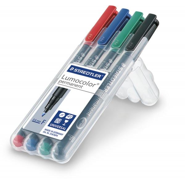 Staedtler Lumocolor Permanent-Set, farbig