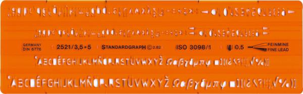 Standardgraph Isonorm-Schriftschablone