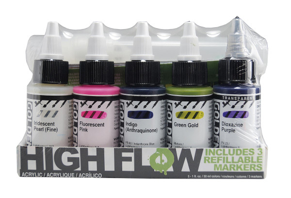 Golden High Flow Acrylfarben- und Marker-Set