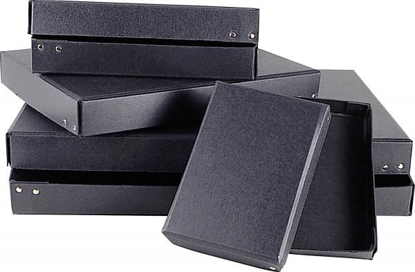 Black Boxes Schwarzer Aufbewahrungskarton aus Hartpappe