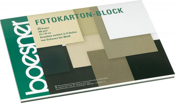 Block mit 25 Blatt, Grautöne | boesner Fotokarton