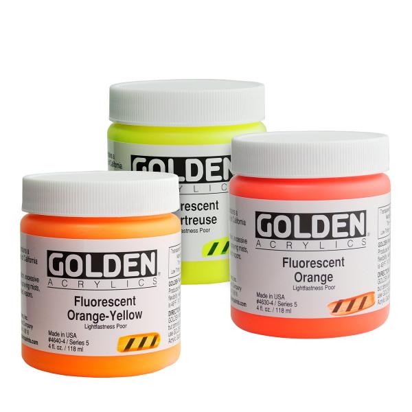 Golden Fluorescent Acrylics