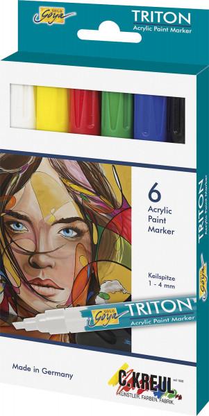 Kreul Solo Goya Triton Acryl Paint Marker   6er-Set