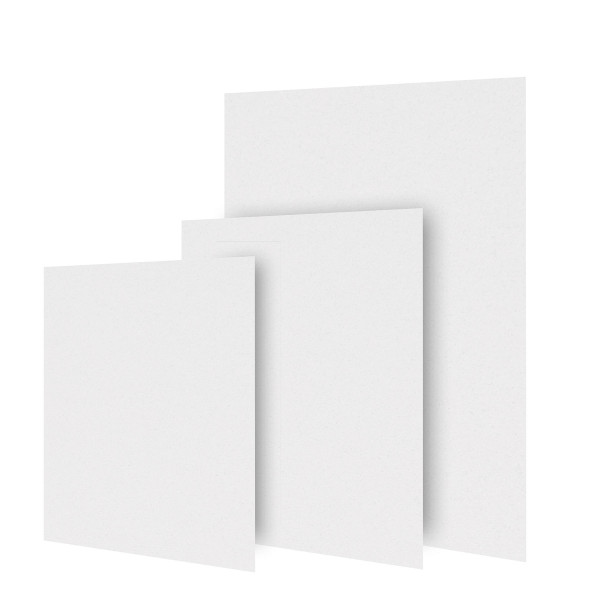 Dorée Passepartoutkarton, 5er-Pack, ohne Ausschnitt, Weiß
