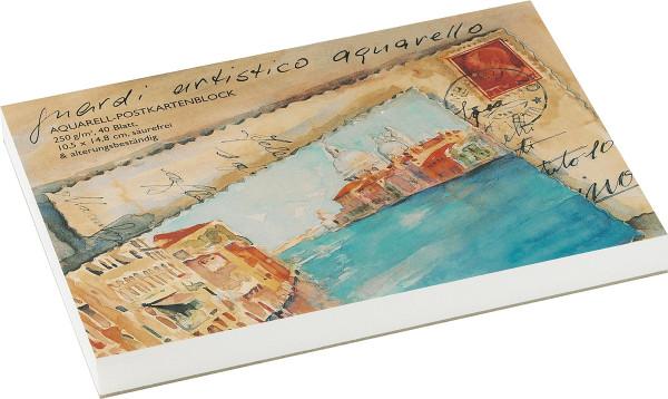 Guardi Artistico Aquarello Aquarell-Postkartenblock