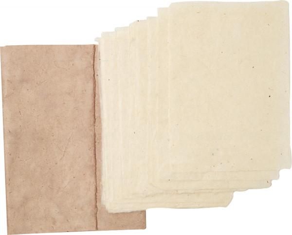Kahari Mappe mit 20 Bogen Papier aus dem Himalaya