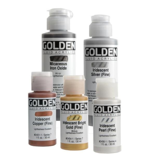 Golden Fluid Acrylics | Iridescent Colors