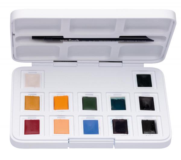 Gedeckte Farbtöne | Talens Van Gogh Aquarellfarbe Pocket Box