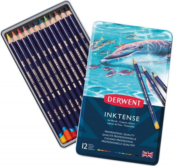 Derwent Inktense Tintenstift-Set | Metalletui