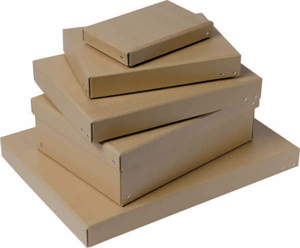 Black Boxes Naturfarbener Aufbewahrungskarton aus Hartpappe
