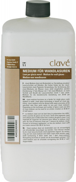 Clavé Medium für Wandlasuren