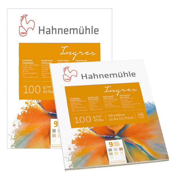 Hahnemühle Ingres Echt-Büttenpapierblock