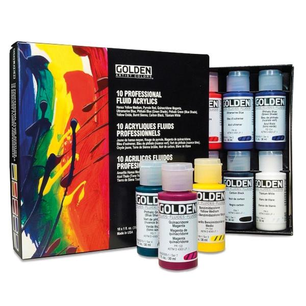 Golden Fluid Acrylfarben-Set