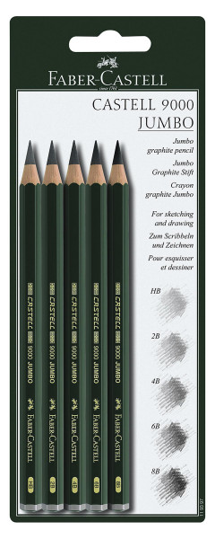 Faber-Castell Castell 9000 Jumbo Bleistift-Set
