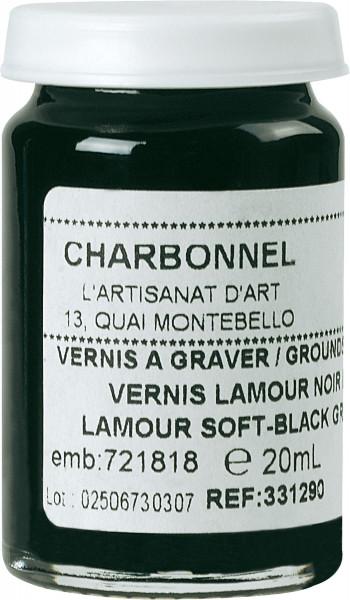 Charbonnel Vernis lamour noir mou