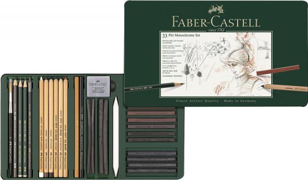 33-teiliges Set   Faber-Castell Monochrome-Set