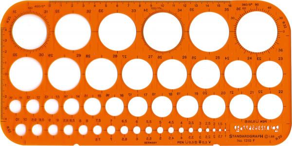 Standardgraph Kreisschablone
